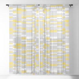 Mosaic Rectangles in Yellow Gray White #design #society6 #artprints Sheer Curtain