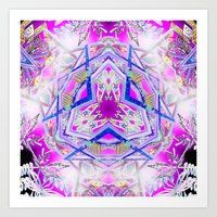 holographic Art Prints featuring Holographic Matrix by SacredLife