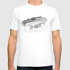 Mad Max Interceptor LARGE White Mens Fitted Tee