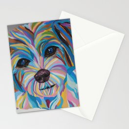 Colorful Shih tzu Painting Stationery Cards