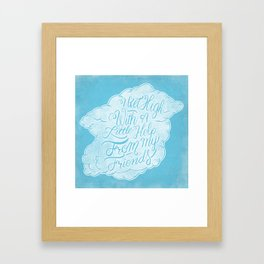 Little help from my friends Framed Art Print