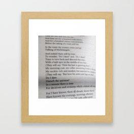 Do i dare? Framed Art Print