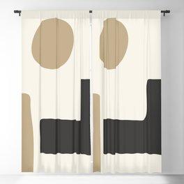 abstract minimal 49 Blackout Curtain