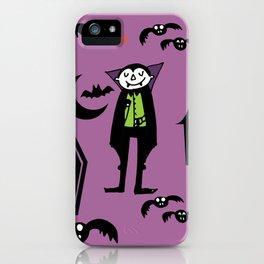 Cute Dracula and friends purple #halloween iPhone Case