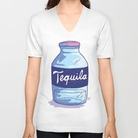 tequila V-neck T-shirts featuring Tequila by - OP -