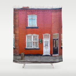 George's Boyhood Home Shower Curtain