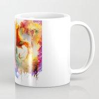 gurren lagann Mugs featuring Kamina by ururuty