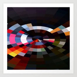 Colorful Geometry Art Print