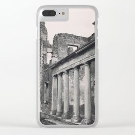 Mansion Walls & Roman Coloumns Clear iPhone Case