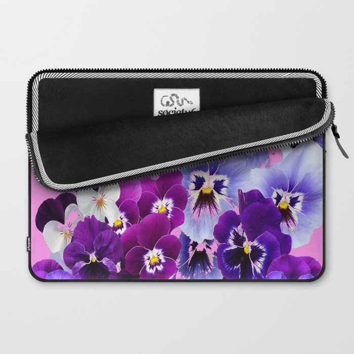 SPRING COLLECTION PURPLE-PINK PANSIES Laptop Sleeve