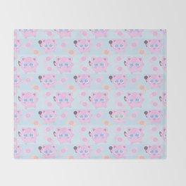 Jigglypuff pattern Throw Blanket