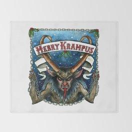 Merry Krampus Throw Blanket