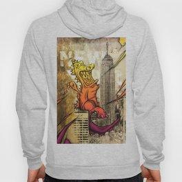 Godzilla Pink & Orange Royal Stain Hoody
