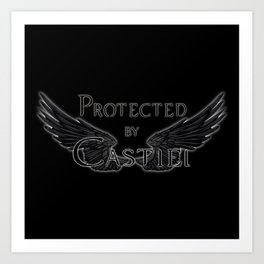 Protected by Castiel Black Wings Art Print
