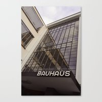 bauhaus Canvas Prints featuring Bauhaus by Nat Alonso