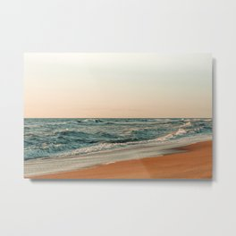 Ocean Orange Metal Print