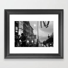 Waiting.. [Black & White] Framed Art Print