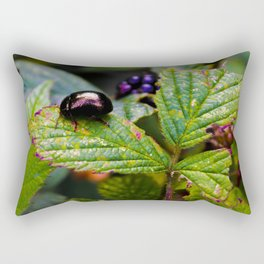Mylor Walk - Leaf Beetle Rectangular Pillow