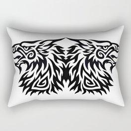 Double Gryphon Rectangular Pillow