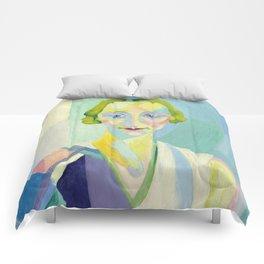 """Robert Delaunay """"Portrait de Madame Heim"""" Comforters"""