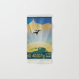 NASA Visions of the Future - Experience the Gravity of HD 40307g Hand & Bath Towel