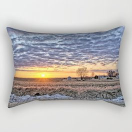 Iowa Farm Sunset Rectangular Pillow