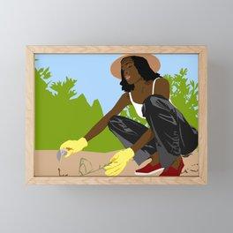 Greener Grass Framed Mini Art Print