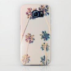 Vintage Pastel Palm trees Slim Case Galaxy S7