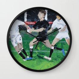 Rugby All Blacks vs England Wall Clock