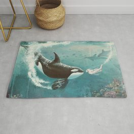 Underwater Love at First Sight Rug