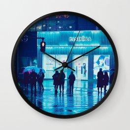 Tokyo Nights / Rain / Liam Wong Wall Clock