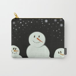 The Snowmen Family Carry-All Pouch