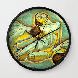 """Koloman (Kolo) Moser """"Three crouching women"""" Wall Clock"""