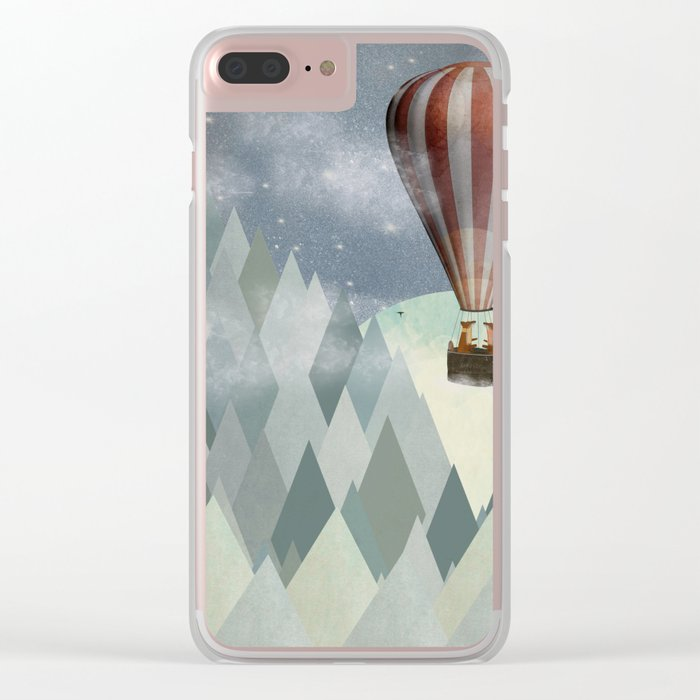 mr and mrs fox great adventure Clear iPhone Case