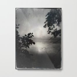 Ghostly Gardens The Mists of Shadow Lake  Metal Print