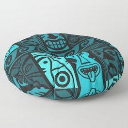 Turquoise Tikis! Floor Pillow