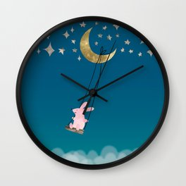 Swingin' with the Moon Wall Clock