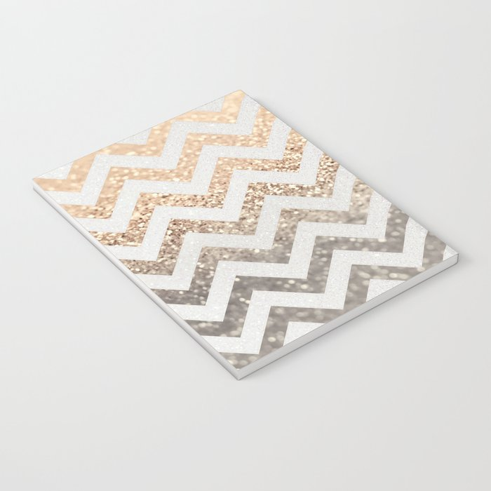 GOLD & SILVER CHEVRON Notebook