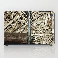 hook iPad Cases featuring Hay Hook by Urlaub Photography