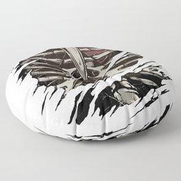 Bones Ribcage Ripped Reveal Floor Pillow