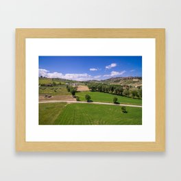 Green Fields of Abruzzo Framed Art Print