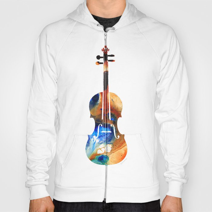 Violin Art By Sharon Cummings Hoody