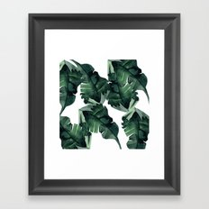 Banana Leaves Pattern Green Framed Art Print