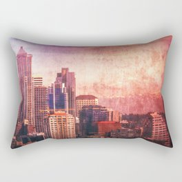 Decode in Downtown Seattle Rectangular Pillow
