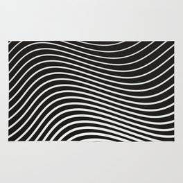 Black and White Curves Rug