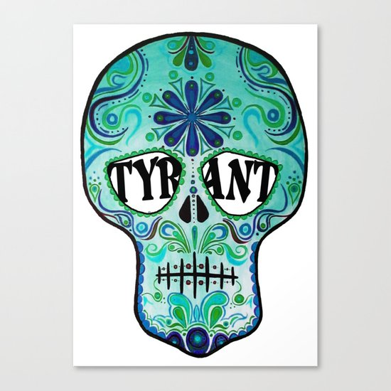 "TYRANT ""Sugar Skull"" Canvas Print"