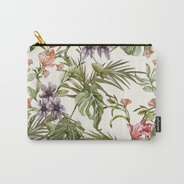 Watercolor tropical foliage Carry-All Pouch