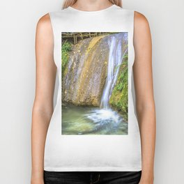 Autumn waterfall Biker Tank