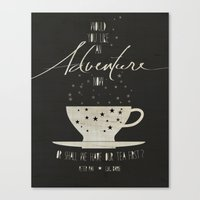 literary Canvas Prints featuring Peter Pan Literary Quote by Lucky Skye