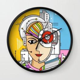 Mujer Robot Wall Clock